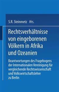 Rechtsverh ltnisse Von Eingeborenen V lkern in Afrika Und Ozeanien