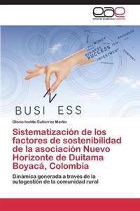 Sistematizacion de Los Factores de Sostenibilidad de La Asociacion Nuevo Horizonte de Duitama Boyaca, Colombia