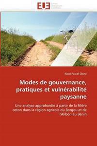 Modes de Gouvernance, Pratiques Et Vuln�rabilit� Paysanne