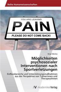 Moglichkeiten Psychosozialer Interventionen Nach Sportverletzungen