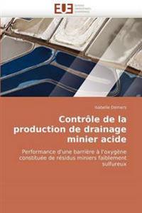 Contr�le de la Production de Drainage Minier Acide