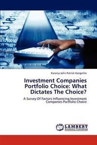 Investment Companies Portfolio Choice