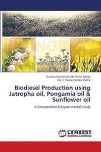 Biodiesel Production Using Jatropha Oil, Pongamia Oil & Sunflower Oil