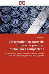 Deformation En Cours de Frittage de Poudres Metalliques Compactees