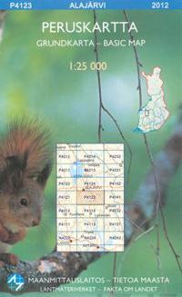 Peruskartta P4123 Alajärvi 1:25 000