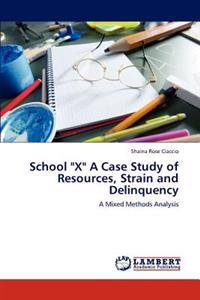 School X a Case Study of Resources, Strain and Delinquency