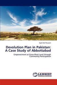 Devolution Plan in Pakistan