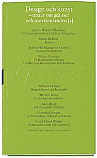 Design och konst D. 1 : Texter före 1960 : Skriftserien Kairos Nr 8:1