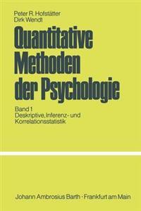 Quantitative Methoden Der Psychologie