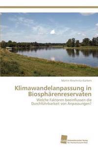 Klimawandelanpassung in Biospharenreservaten