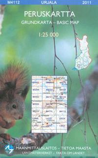 Maastokartta M4112 Urjala peruskartta 1:25 000