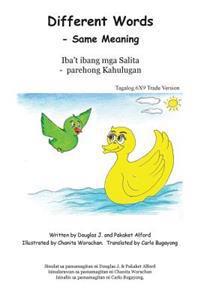 Different Words Iba T Ibang MGA Salita Tagalog 6x9 Version: - Same Meaning - Parehong Kahulugan