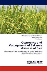 Occurrence and Management of Bakanae Disaease of Rice