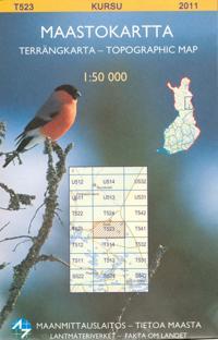Maastokartta T523  Kursu 1:50 000
