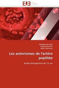 Les An�vrismes de l''art�re Poplit�e