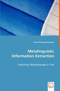 Metalinguistic Information Extraction