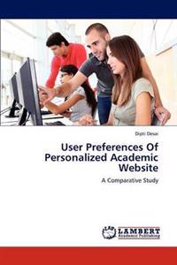 User Preferences of Personalized Academic Website
