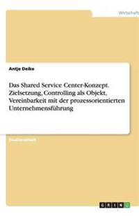 Das Shared Service Center-Konzept. Zielsetzung, Controlling ALS Objekt, Vereinbarkeit Mit Der Prozessorientierten Unternehmensfuhrung