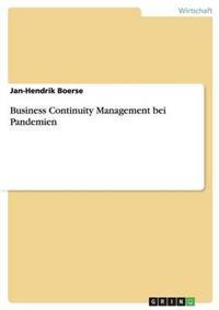 Business Continuity Management Bei Pandemien