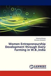 Women Entrepreneurship Development Through Dairy Farming in W.B., India