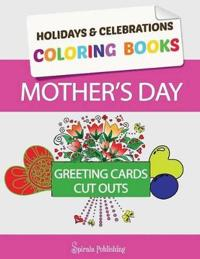 Mother's Day Coloring Book Greeting Cards
