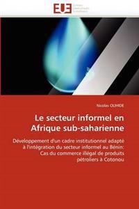 Le Secteur Informel En Afrique Sub-Saharienne