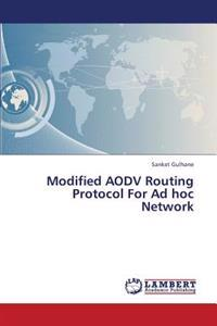 Modified Aodv Routing Protocol for Ad Hoc Network