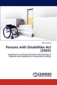 Persons with Disabilities ACT (2003)