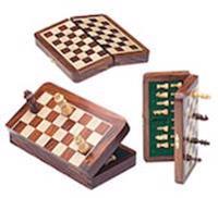 Schackbräde Reseschack vikbart 30x30 cm
