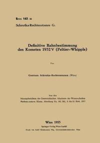 Definitive Bahnbestimmung Des Kometen 1932v (Peltier-Whipple)