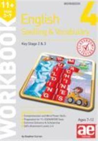 11+ spelling and vocabulary workbook 4 - intermediate level