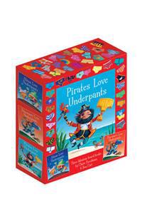 Underpants board book slipcase - includes aliens love underpants; dinosaurs