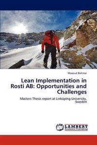 Lean Implementation in Rosti AB