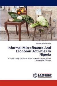 Informal Microfinance and Economic Activities in Nigeria