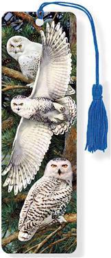 Snowy Owl 3-D Bookmark (Lenticular Bookmark)
