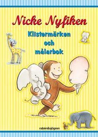 Nicke Nyfiken - Klistermärken och målarbok