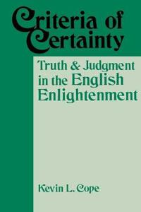 Criteria of Certainty