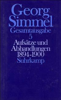 Aufsätze und Abhandlungen 1894 - 1900