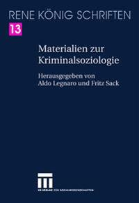 Materialien Zur Kriminalsoziologie