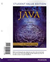 Intro to Java Programming, Comprehensive Version, Student Value Edition