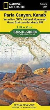 National Geographic Trails Illustrated Map Paria Canyon, Kanab - Arizona, Utah