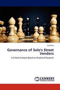 Governance of Solo's Street Vendors
