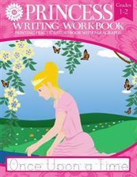 Princess Writing Workbook Printing Practice Storybook with Paragraphs