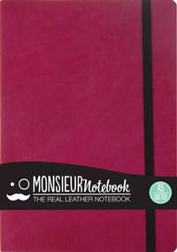 Monsieur Notebook Leather Journal - Pink Sketch Medium A5