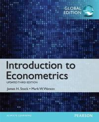 Introduction to Econometrics, Update with MyEconLab