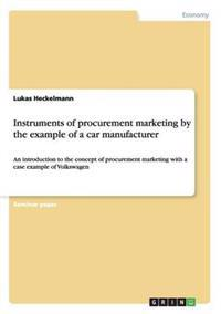 Instruments of Procurement Marketing by the Example of a Car Manufacturer