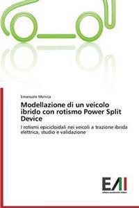 Modellazione Di Un Veicolo Ibrido Con Rotismo Power Split Device