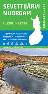 Sevettijärvi-Nuorgam ulkoilukartta, 1: 100 000