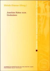 Joachim Ritter Zum Gedenken