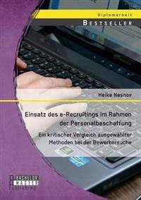 Einsatz Des E-Recruitings Im Rahmen Der Personalbeschaffung